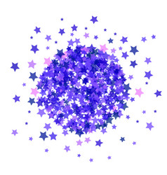 blue star burst isolated vector image