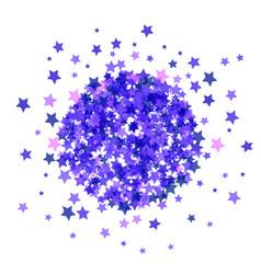 Blue star burst isolated vector