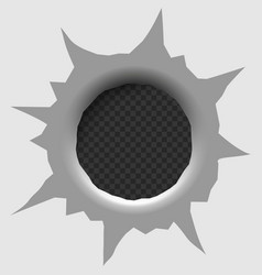 bullet hole isolated vector image