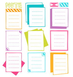 bullet journal hand drawn frames vector image