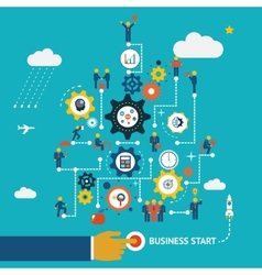 Business start infographics vector image