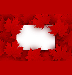 Canada day background design vector