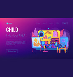 child friendly area concept landing page vector image