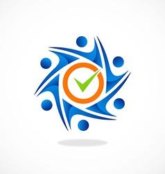 Circle people mark choice group logo vector