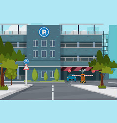 city parking place for you vector image
