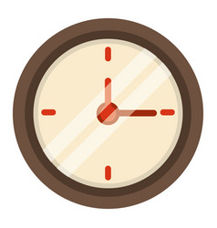 Clock time school icon vector