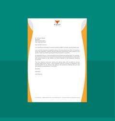 creative letterhead with rusty orange look vector image