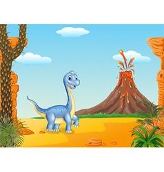 Cute dinosaur posing vector