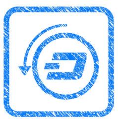 Dash revert payment framed stamp vector