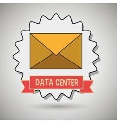 data center message envelope vector image