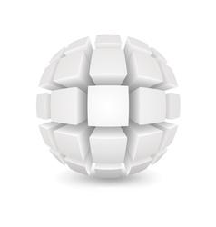 Divided white sphere vector image