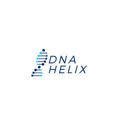 Dna helix strand logo element vector