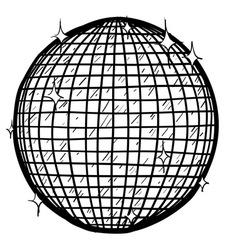Doodle disco ball vector