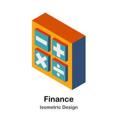 Finance isometric vector