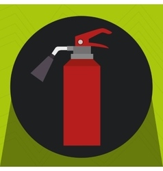 Fire extinguisher protection icon vector