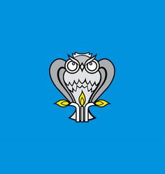 Flag novy urengoy in yamalo-nenets autonomous vector