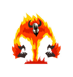 flaming fire devil demonic infernal creature vector image