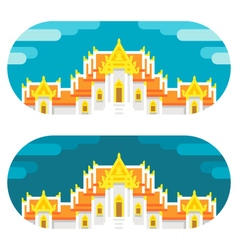 Flat design thai temple vector image