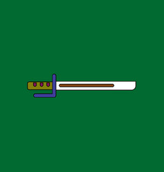 Flat icon design collection military bayonet knife vector