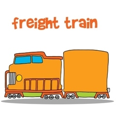 Freight train art vector