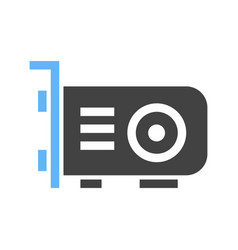 Graphic card icon vector