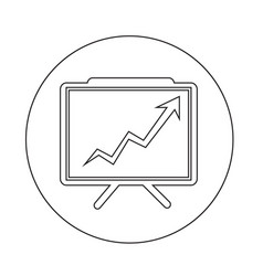 growing chart presentation icon vector image