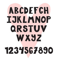 hand drawn english alphabet cute letters and vector image