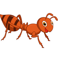happy ant cartoon vector image