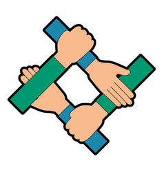 Human hands icon vector