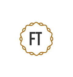 initial letter ft elegance creative logo vector image