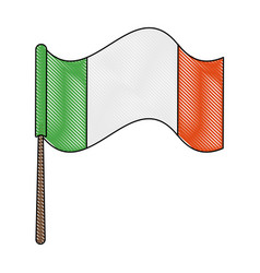 ireland flag symbol vector image