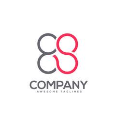 letter es circle connect logo concept vector image
