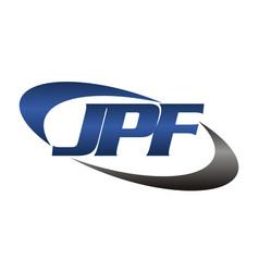 letter jpf modern vector image