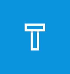 logo letter t white vector image