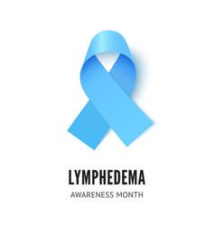 Lymphedema cancer awareness ribbon vector