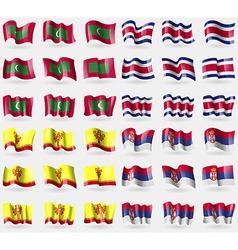Maldives Costa Rica Chuvashia Serbia Set of 36 vector