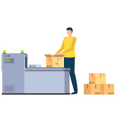 man with parcel international business vector image