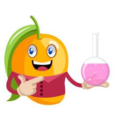 mango wtih tube on white background vector image