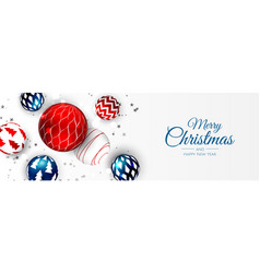Merry christmas background with christmas element vector