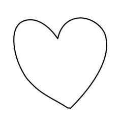 Monochrome hand drawn contour of heart vector
