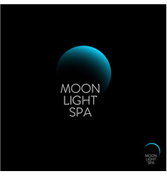 Moon light spa logo vector