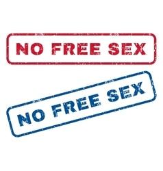 No Free Sex Rubber Stamps vector image