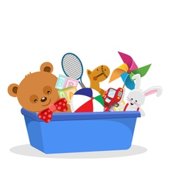 Of A Toy Box vector image