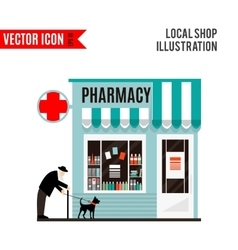 Pharmacy shop icon isolated on white background vector