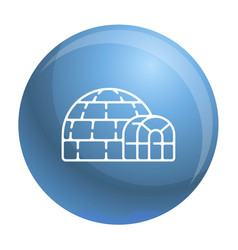 Polar igloo icon outline style vector