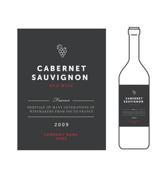 red wine labels premium template set vector image
