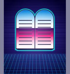 Retro style the commandments icon isolated vector