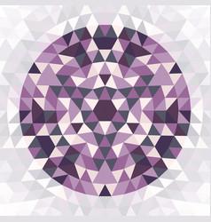 Round geometric triangle mandala design vector