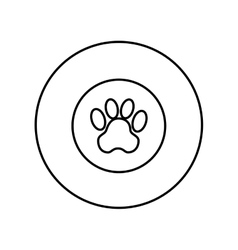 seal with animal footprint vector image