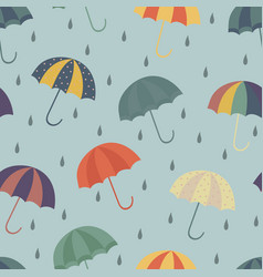 seamless vintage umbrella pattern vector image